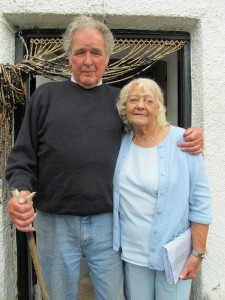 Cedric Robertson MBE with his wife Olive
