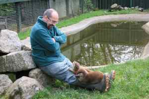 Tim with otters-1